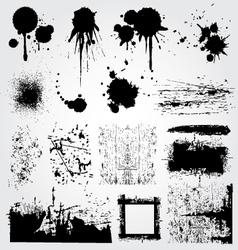 Graphic grunge set vector
