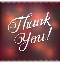 Thank you abstract polka dot vector