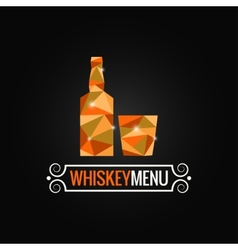 Whiskey bottle poly design background vector