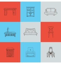 It is a of home furnishings vector