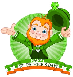 Leprechaun greeting vector