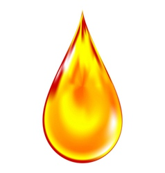 Golden drop of oil vector