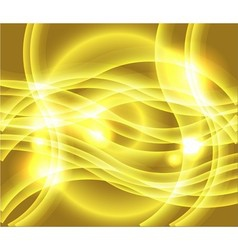 Waves of yellow background vector