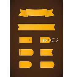 Golden ribbons v2 vector