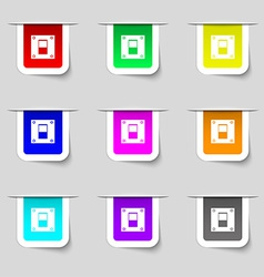 Power switch icon sign set of multicolored modern vector