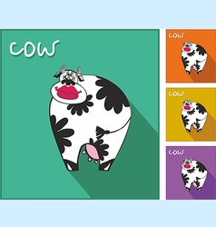 Icon with a cow vector