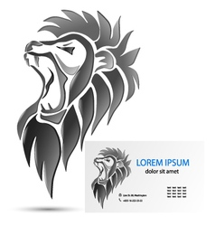 Roaring lion head vector