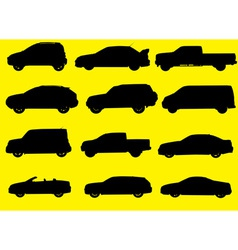 Cars silhouettes part 1 vector