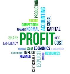 Word cloud profit vector