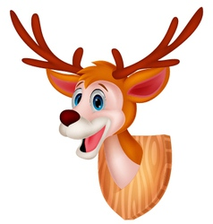 Deer head cartoon vector