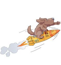 Rocket dog vector