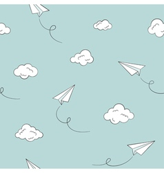 Paper plane seamless background vector