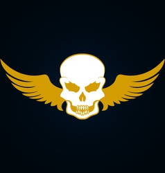 A skull with wings vector