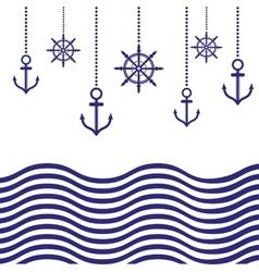Nautical template vector