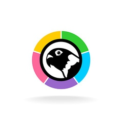 Parrot head logo vector
