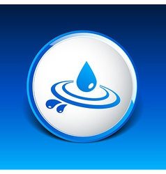 Abstract symbol of a drop water symbol vector