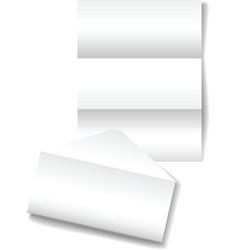 Open folded letter vector