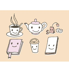 Coffee shop icons vector