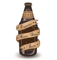Organic home brew beer vector
