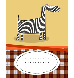 Giraffe cartoon style vector