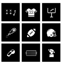 Black football icon set vector