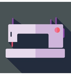 Modern flat design concept icon sewing machine vector