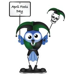 Bird april fools day vector