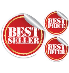 Best seller best price and best offer vector