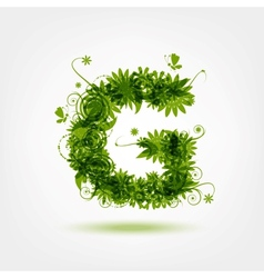 Green eco letter g for your design vector