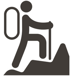 Mountaineering icon vector
