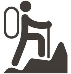 Mountaineering icon vector