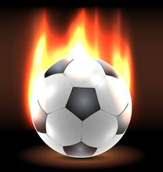 Burning soccer ball in the dark vector