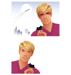 Blonde man vector