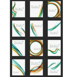 Color line abstract background set vector