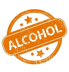 Alcohol grunge icon vector