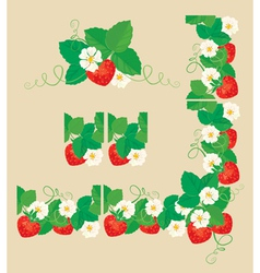 Strawberry frame 1 380 vector