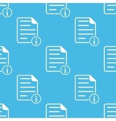 Blue information document pattern vector