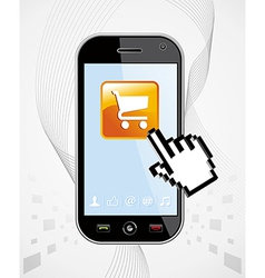 Smartphone buy application vector