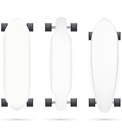 Mock-up for longboards vector