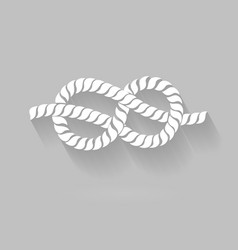 Black and white rope eight knot graphic design vector