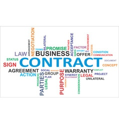 Word cloud contract vector