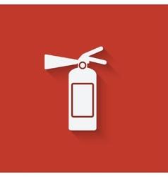 Fire extinguisher symbol vector