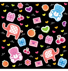 Kids fun pattern vector