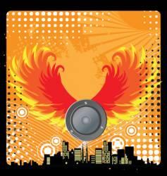 Urban grunge speaker design vector