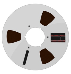 Of a tape bobbin vector