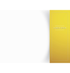 Blank card template with shadow effects vector