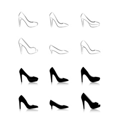 Womans fashion high heels vector