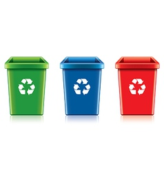 Object eco recycling trash vector