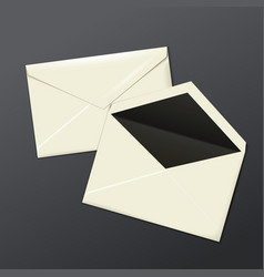 Blank white envelopes opened and close vector