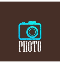 Vintage with a camera icon vector
